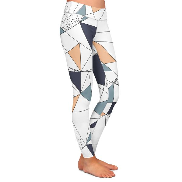 Flamingo Lines Athletic Yoga Leggings from DiaNoche Designs by Metka Hiti