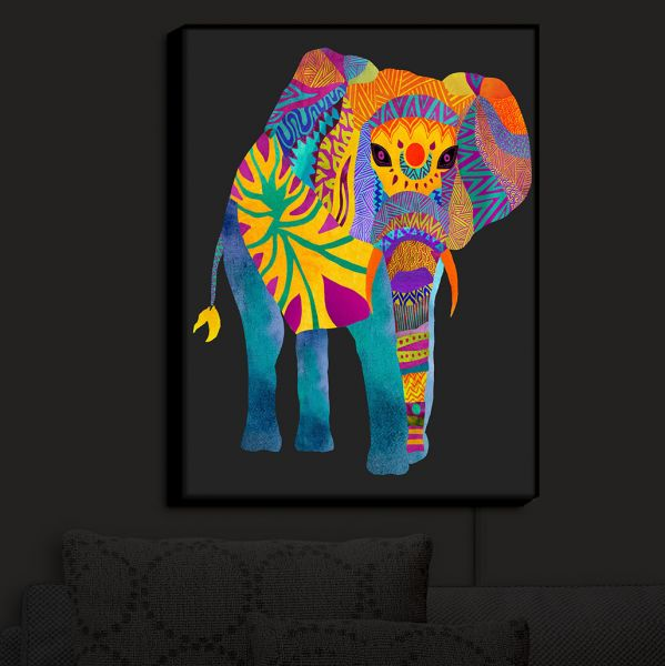 Illuminated Wall Art Pom Graphic Design S Whimsical Elephant Ii Dianoche Designs