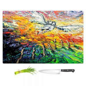 Artistic Kitchen Bar Cutting Boards | Aja Ann - 8 of Wands | Tarot Pegasus Unicorn