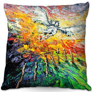 Throw Pillows Decorative Artistic | Aja Ann - 8 of Wands | Tarot Pegasus Unicorn