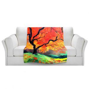 Artistic Sherpa Pile Blankets   Aja Ann - Autumns Fire