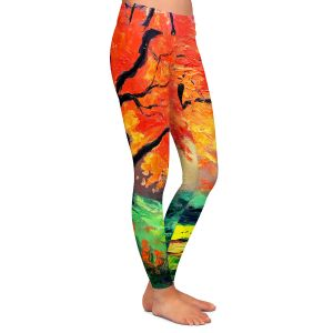Casual Comfortable Leggings | Aja Ann - Autumns Fire