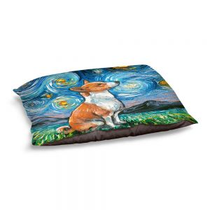 Decorative Dog Pet Beds | Aja Ann - Basenji Dog | Starry Night Dog Animal