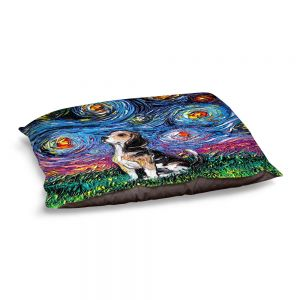 Decorative Dog Pet Beds | Aja Ann - Beagle Dog | Starry Night Dog Animal