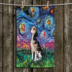 Unique Bathroom Towels | Aja Ann - Beagle Dog | Starry Night Dog Animal