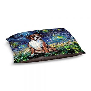 Decorative Dog Pet Beds | Aja Ann - Boxer Dog | Starry Night Dog Animal