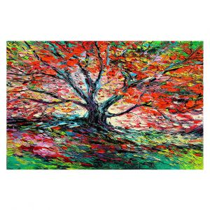 Decorative Floor Covering Mats | Aja Ann - Breathe In | Landscape Tree Fire
