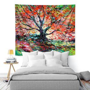 Artistic Wall Tapestry | Aja Ann - Breathe In | Landscape Tree Fire