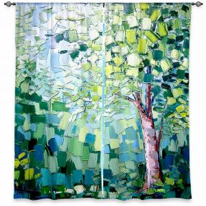 Unique Window Curtains Unlined 40w x 82h from DiaNoche Designs by Aja Ann - Breeze Trees
