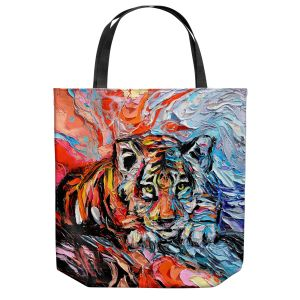 Unique Shoulder Bag Tote Bags | Aja Ann - Call of the Wild | Tigers