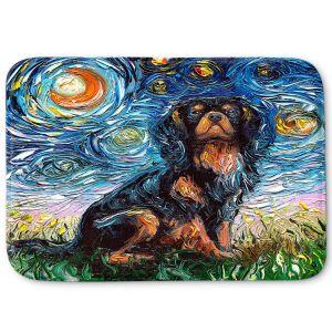 Decorative Bathroom Mats | Aja Ann - Cavalier King Charles Spaniel | Starry Night Dog Animal