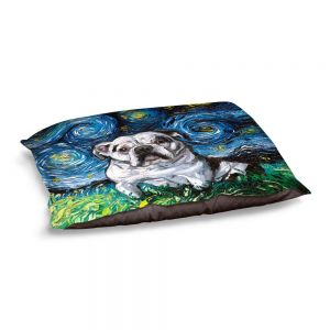 Decorative Dog Pet Beds | Aja Ann - Charlie Bulldog | Starry Night Dog Animal