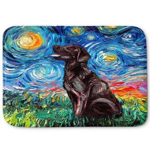 Decorative Bathroom Mats | Aja Ann - Chocolate Labrador | Starry Night Dog Animal