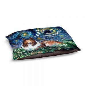 Decorative Dog Pet Beds | Aja Ann - Collie Dog | Starry Night Dog Animal