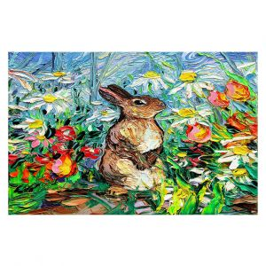Decorative Floor Covering Mats | Aja Ann - Cottontail Rabbit | Bunny Rabbit