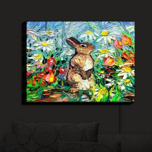 Nightlight Sconce Canvas Light | Aja Ann - Cottontail Rabbit | Bunny Rabbit