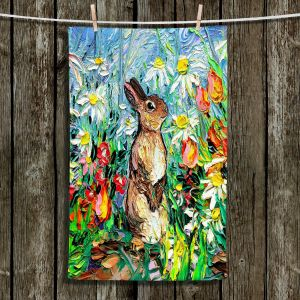Unique Hanging Tea Towels | Aja Ann - Cotton Tail Bunny Rabbit | Bunny Rabbit
