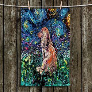 Unique Hanging Tea Towels | Aja Ann - Dachsund Dog | Starry Night Dog Animal