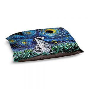 Decorative Dog Pet Beds | Aja Ann - Dalmatian Dog | Starry Night Dog Animal