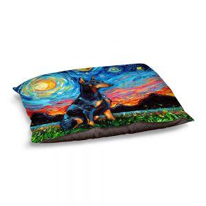 Decorative Dog Pet Beds | Aja Ann - Doberman Dog | Starry Night Dog Animal