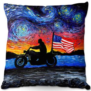 Decorative Outdoor Patio Pillow Cushion | Aja Ann - Easy Rider | Dennis Hopper, Peter Fonda, Movie