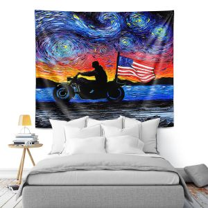 Artistic Wall Tapestry | Aja Ann - Easy Rider | Dennis Hopper, Peter Fonda, Movie