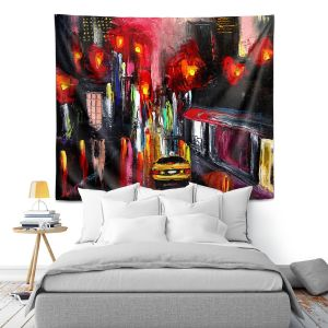 Artistic Wall Tapestry | Aja Ann Faces of the City 145