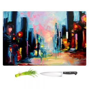 Artistic Kitchen Bar Cutting Boards | Aja Ann - Faces of the City 148