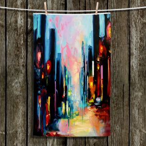 Unique Hanging Tea Towels | Aja Ann - Faces of the City 148 | City Scape NIghttime