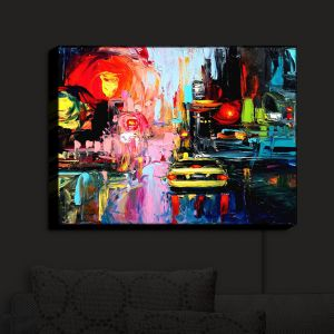 Nightlight Sconce Canvas Light   Aja Ann - Faces of the City cxvi