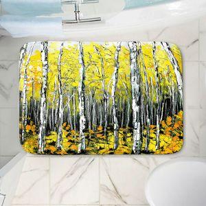 Decorative Bathroom Mats | Aja Ann - Fall Aspens Trees