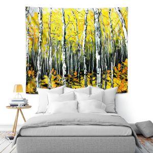 Artistic Wall Tapestry | Aja Ann Fall Aspens