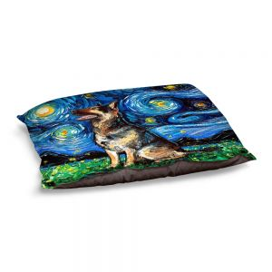 Decorative Dog Pet Beds | Aja Ann - German Shepherd | Starry Night Dog Animal