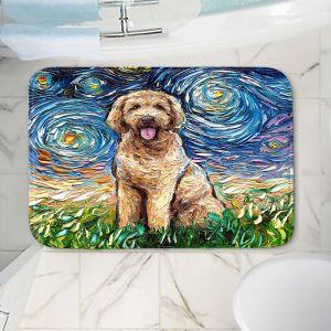 Decorative Bathroom Mats | Aja Ann - Golden Doodle Dog | Starry Night Dog Animal