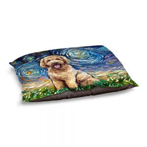 Decorative Dog Pet Beds | Aja Ann - Golden Doodle Dog | Starry Night Dog Animal