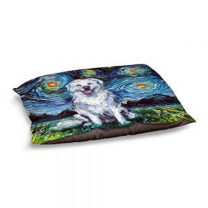 Decorative Dog Pet Beds | Aja Ann - Great Pyrenese Dog | Starry Night Dog Animal