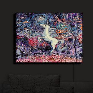 Nightlight Sconce Canvas Light | Aja Ann - Im Alive | Unicorn