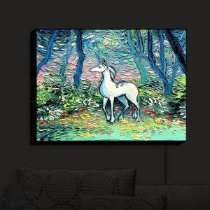 Nightlight Sconce Canvas Light | Aja Ann - Shadow Forest | Unicorn