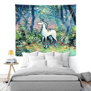 Artistic Wall Tapestry | Aja Ann - Shadow Forest | Unicorn