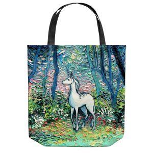 Unique Shoulder Bag Tote Bags | Aja Ann - Shadow Forest | Unicorn