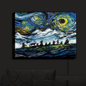 Nightlight Sconce Canvas Light   Aja Ann - Lord of Fellowship   Mountains, Lord of the Rings, Starry Night van Gogh