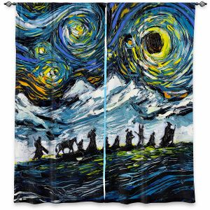 Decorative Window Treatments | Aja Ann - Lord of Fellowship | Mountains, Lord of the Rings, Starry Night van Gogh