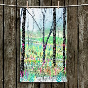Unique Hanging Tea Towels | Aja Ann - Love Notes | Forest Trees Nature