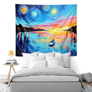 Artistic Wall Tapestry | Aja Ann Midnight Harbor L