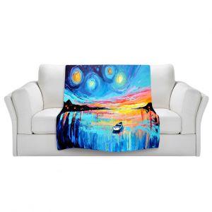 Artistic Sherpa Pile Blankets   Aja Ann Midnight Harbor L