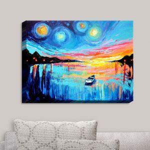 Decorative Canvas Wall Art | Aja Ann - Midnight Harbor L