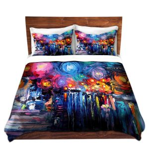 Artistic Duvet Covers and Shams Bedding | Aja Ann - Midnight Harbor xix