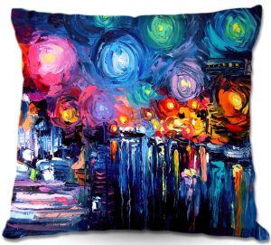 Decorative Outdoor Patio Pillow Cushion | Aja Ann - Midnight Harbor xix