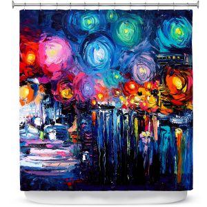 Premium Shower Curtains   Aja Ann Midnight Harbor xix