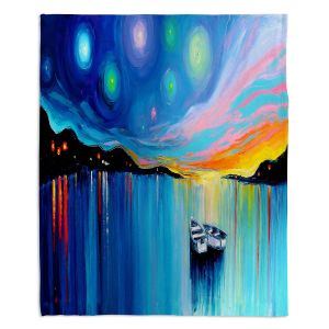 Decorative Fleece Throw Blankets | Aja Ann - Midnight Harbor xxxii